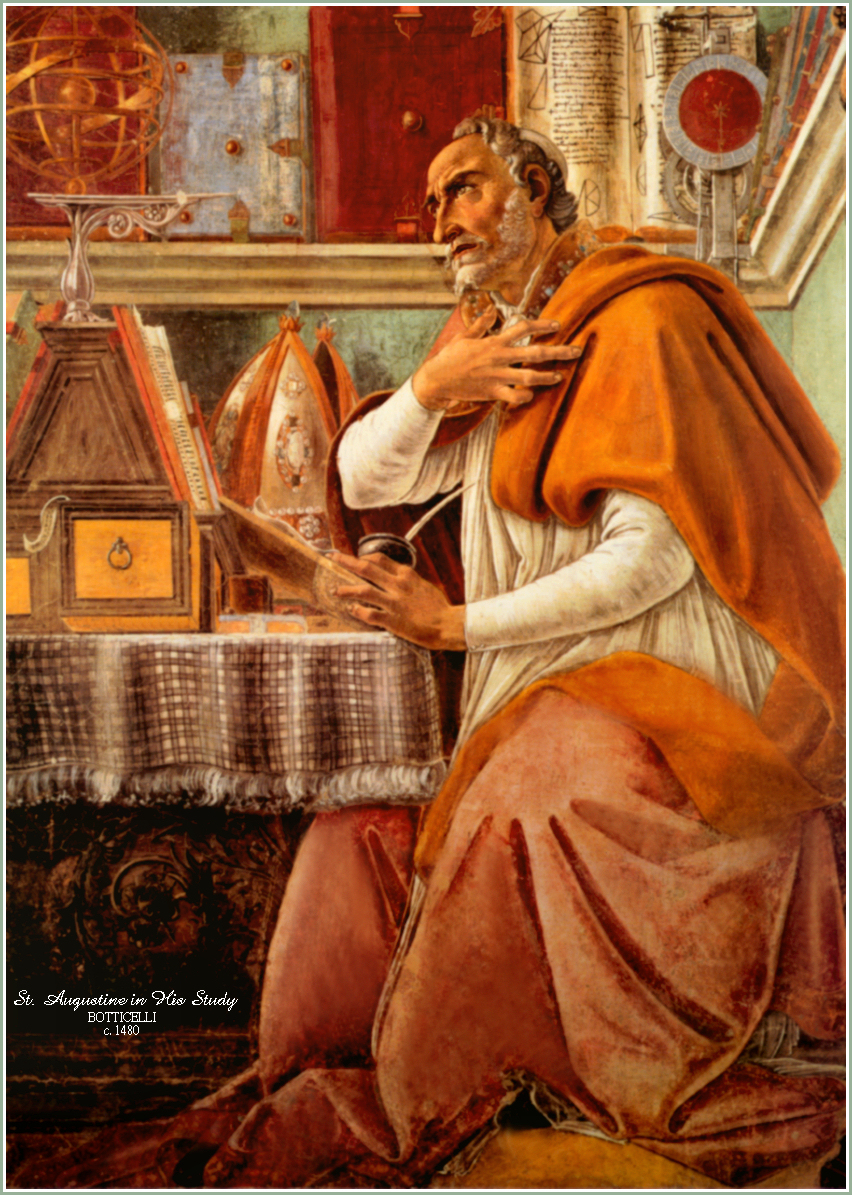 Image result for augustine at study