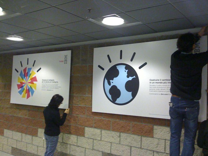 IBM Milano Segrate Stampa Pannelli