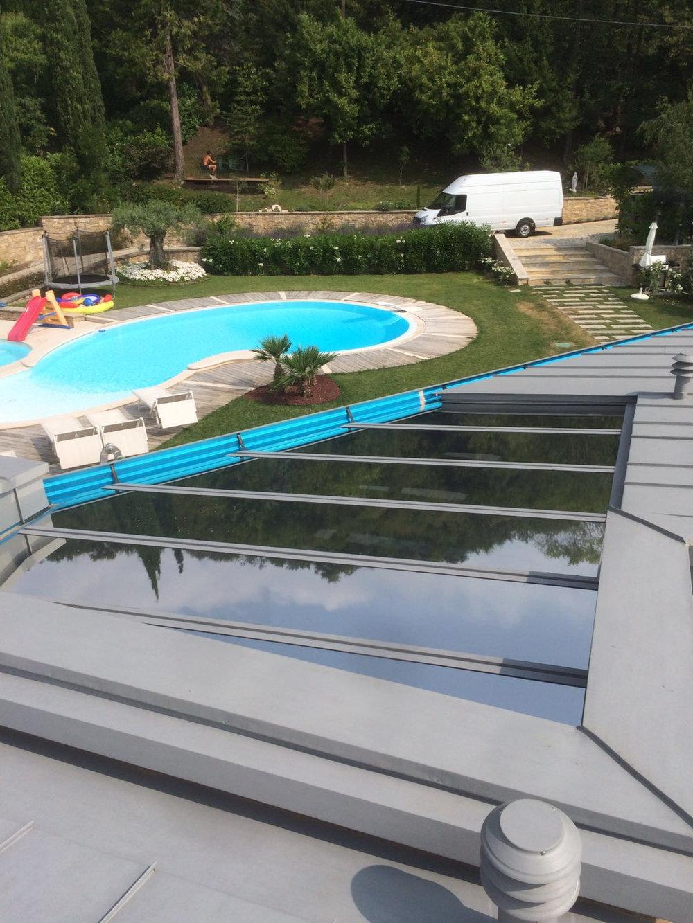 pellicole solari tetto in vetro