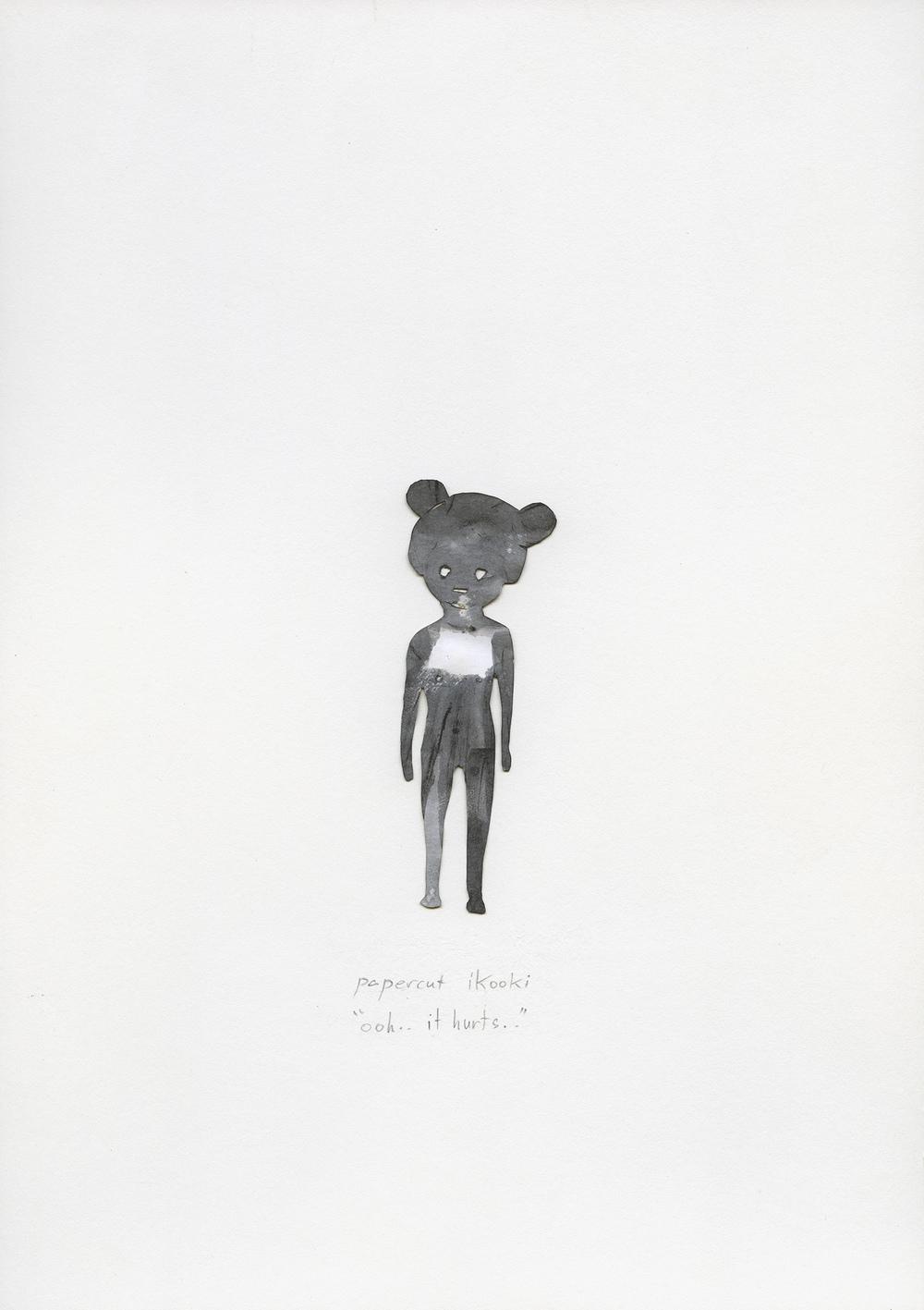 paper-cut ikooki   2013   mixed media on paper, 23x30.5 cm