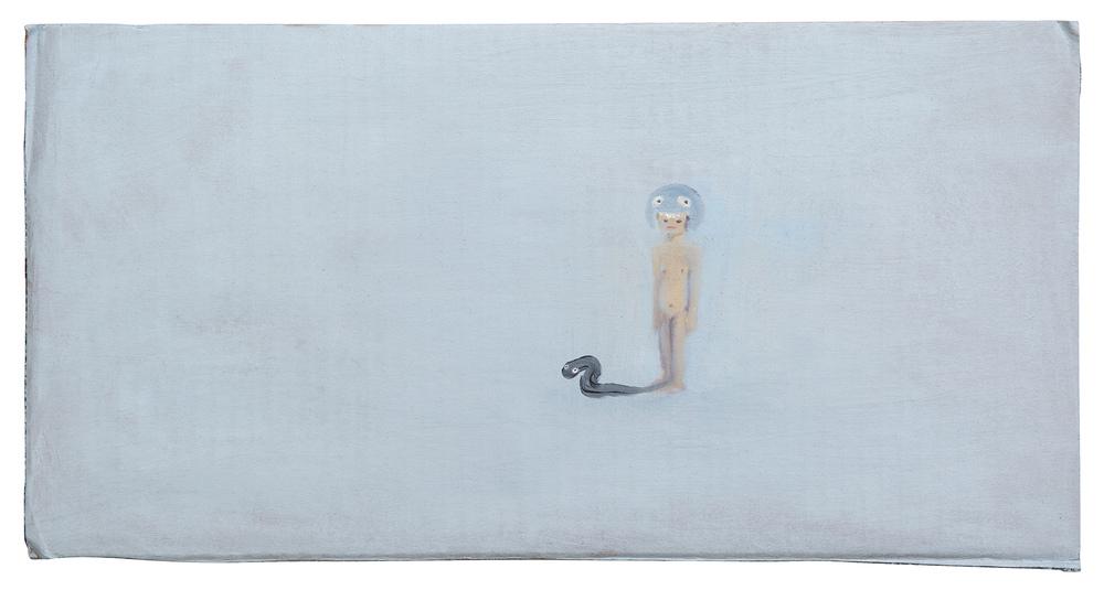 Untitled   2013   oil on cardboard, 22.5x43.5 cm