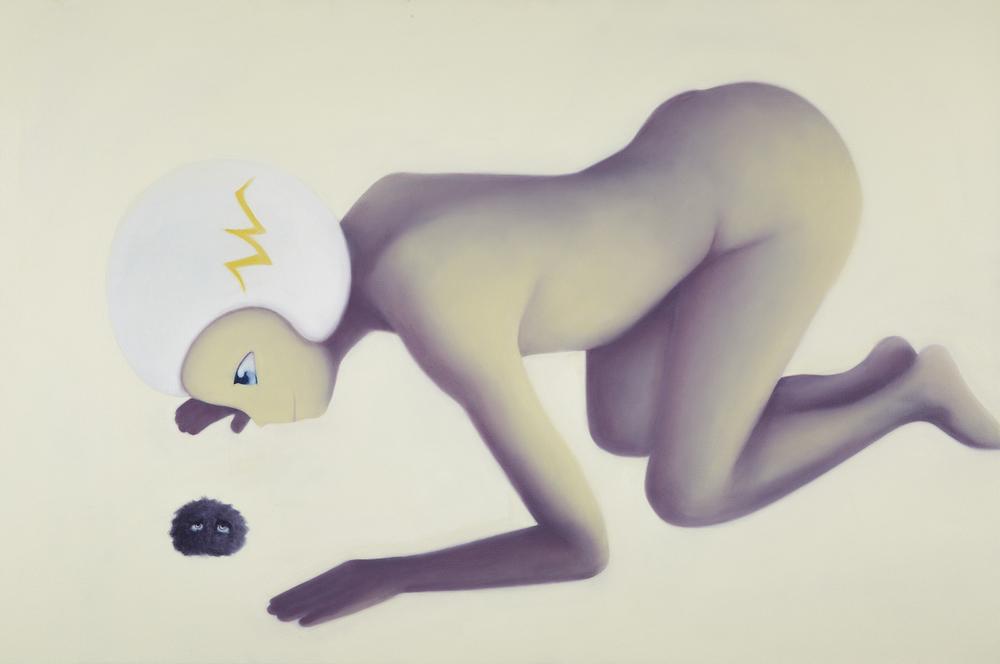 I can see your eyes, but I can't see you   2013   oil on canvas, 80x120 cm