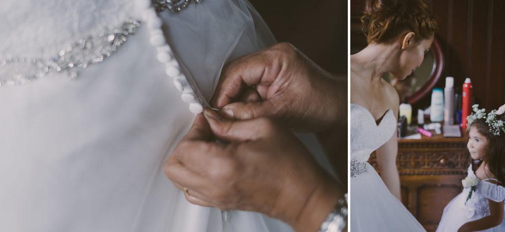 trouwjurk details van de bruiloft fotografie in utrecht