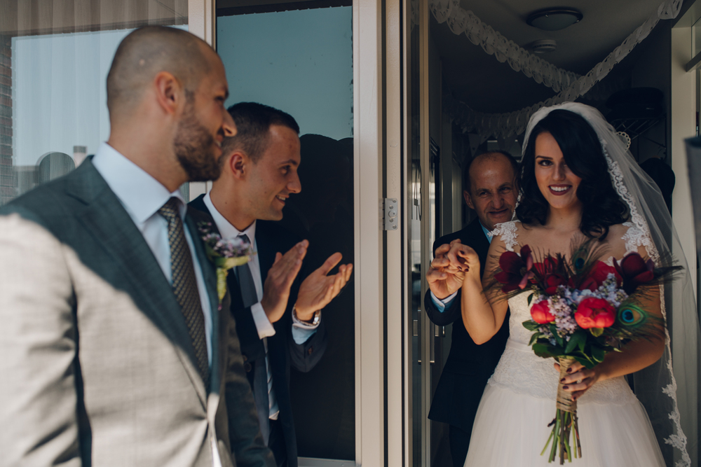 amsterdam wedding photography first meeting bride couple