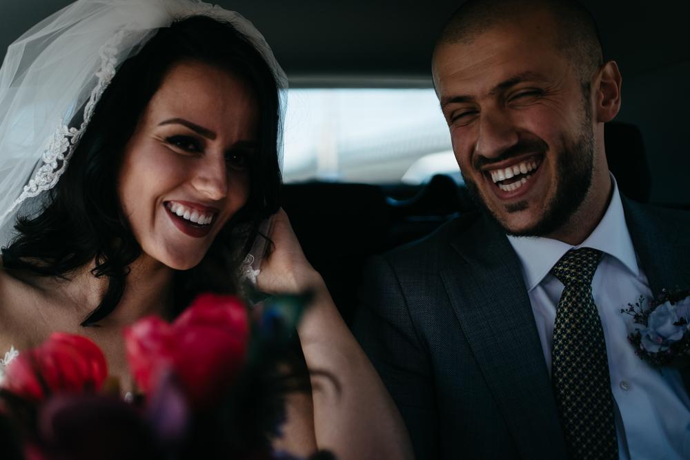 amsterdam wedding photographer couple in car