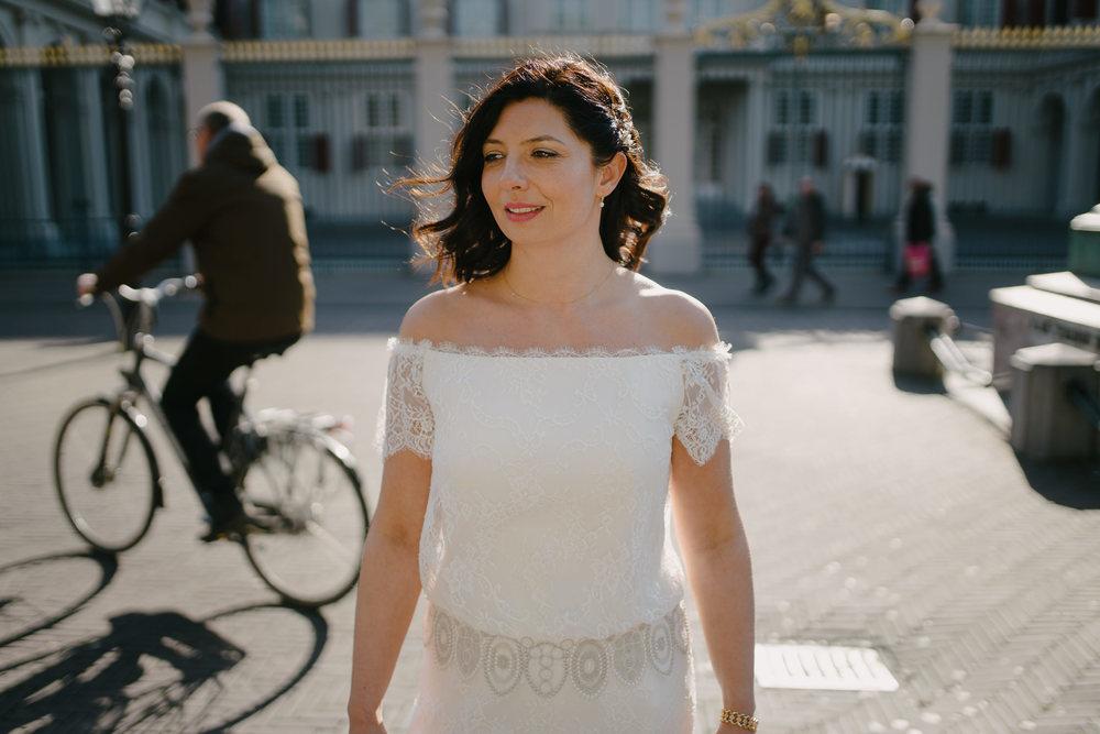 bruidsfotografie amsterdam bruidsportret in de stadt