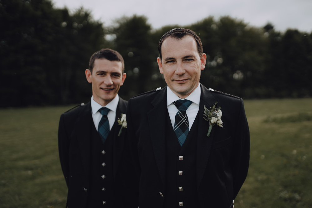 wedding photography aberdeen groom and best man