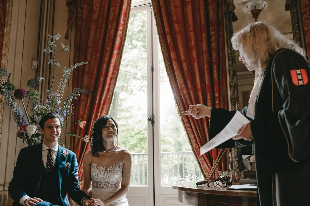 bruidsfotografie amsterdam ceremonie het grachtenhuis