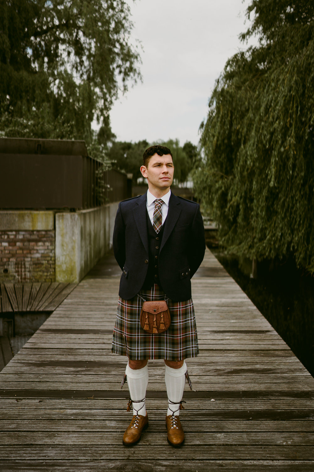 amsterdam wedding photography scottish kilt dress
