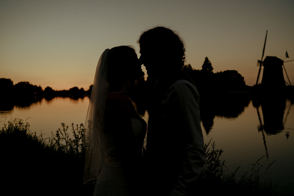 bruidsfotografie amsterdam bruidspaar molen