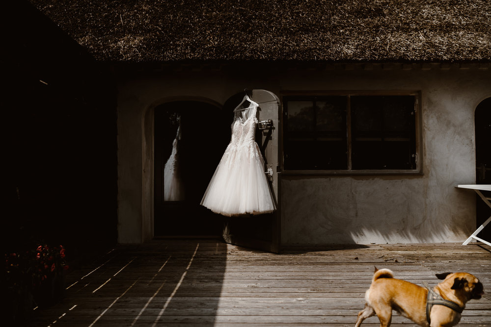 wedding dress by best amsterdam wedding photographers mark hadden