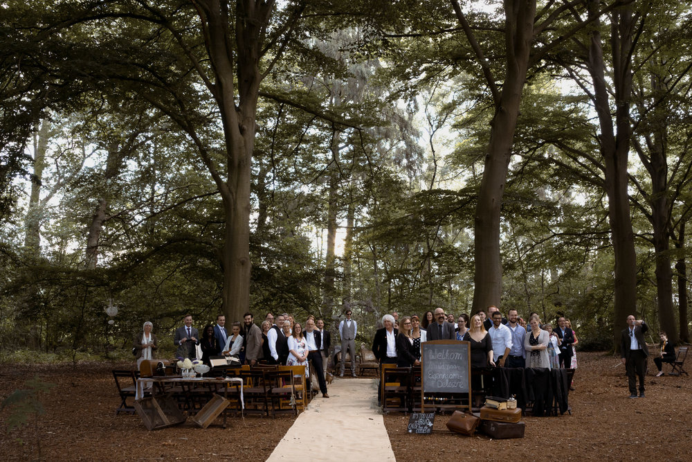 wedding in the forest near leusden by mark hadden amsterdam wedding photographer