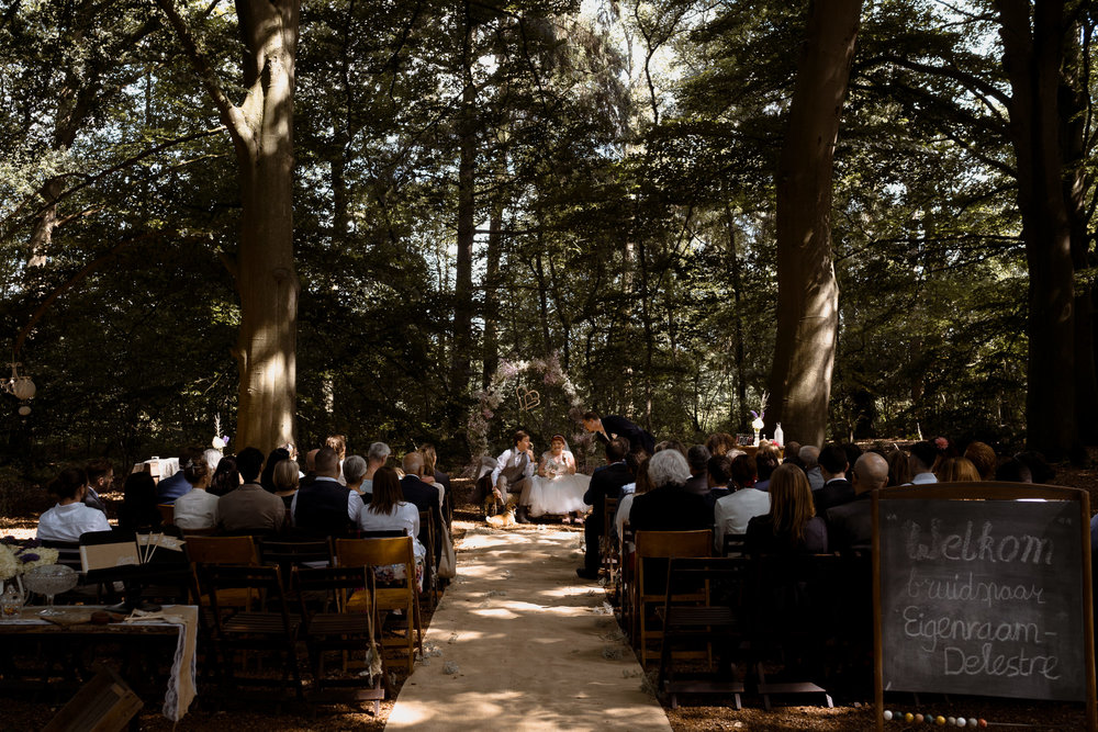 bruiloft in het bos bruidsfotograaf mark hadden amsterdam