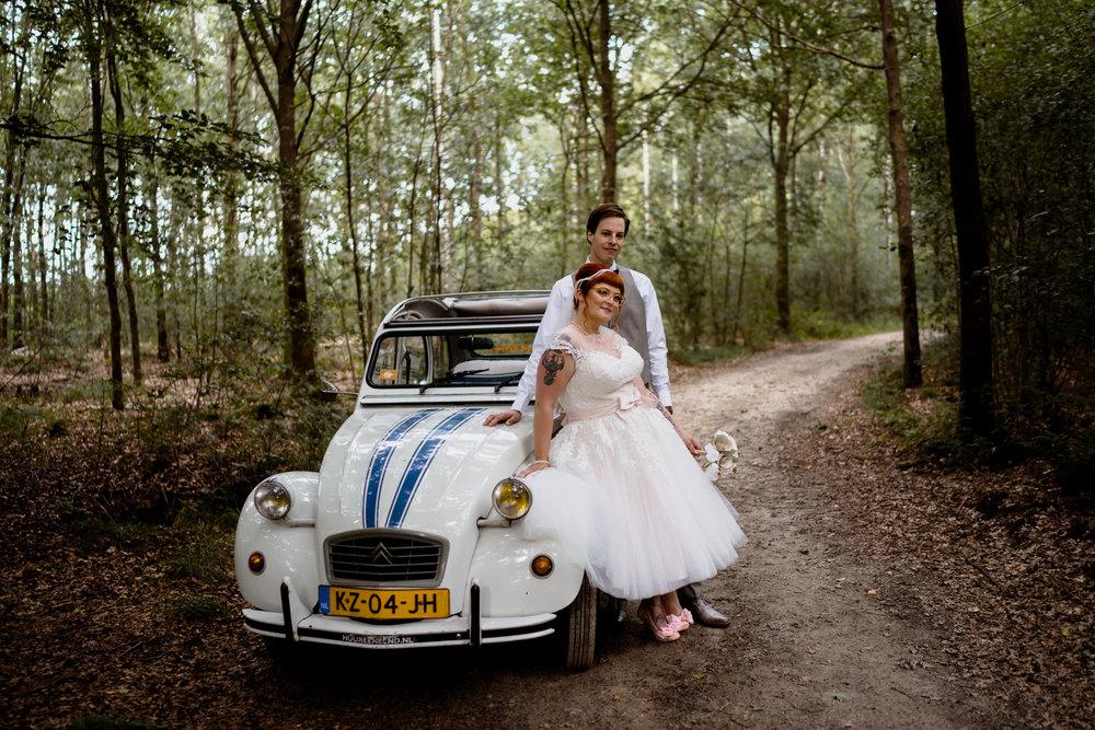 bruidsfotografie amsterdam utrecht amersfoort, bruiloft in het bos
