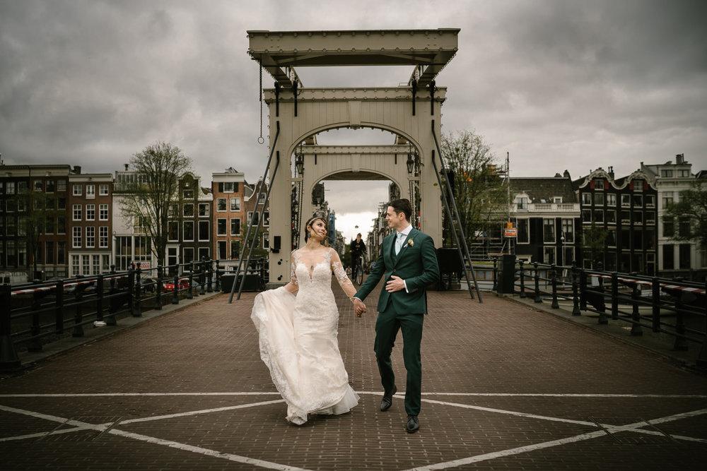 bruidsfotografie amsterdam magere brug fotoshoot - mark hadden