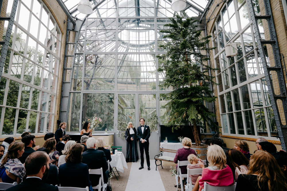 bruiloft hortus botanicus fotografie mark hadden