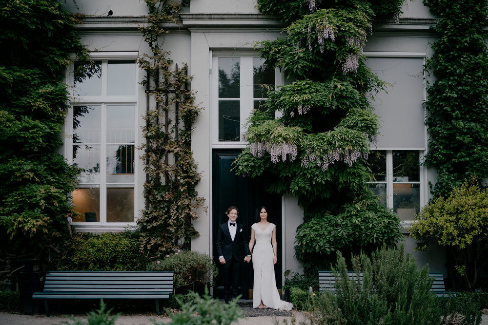 bruidsfotografie amsterdam bruidspaar portret