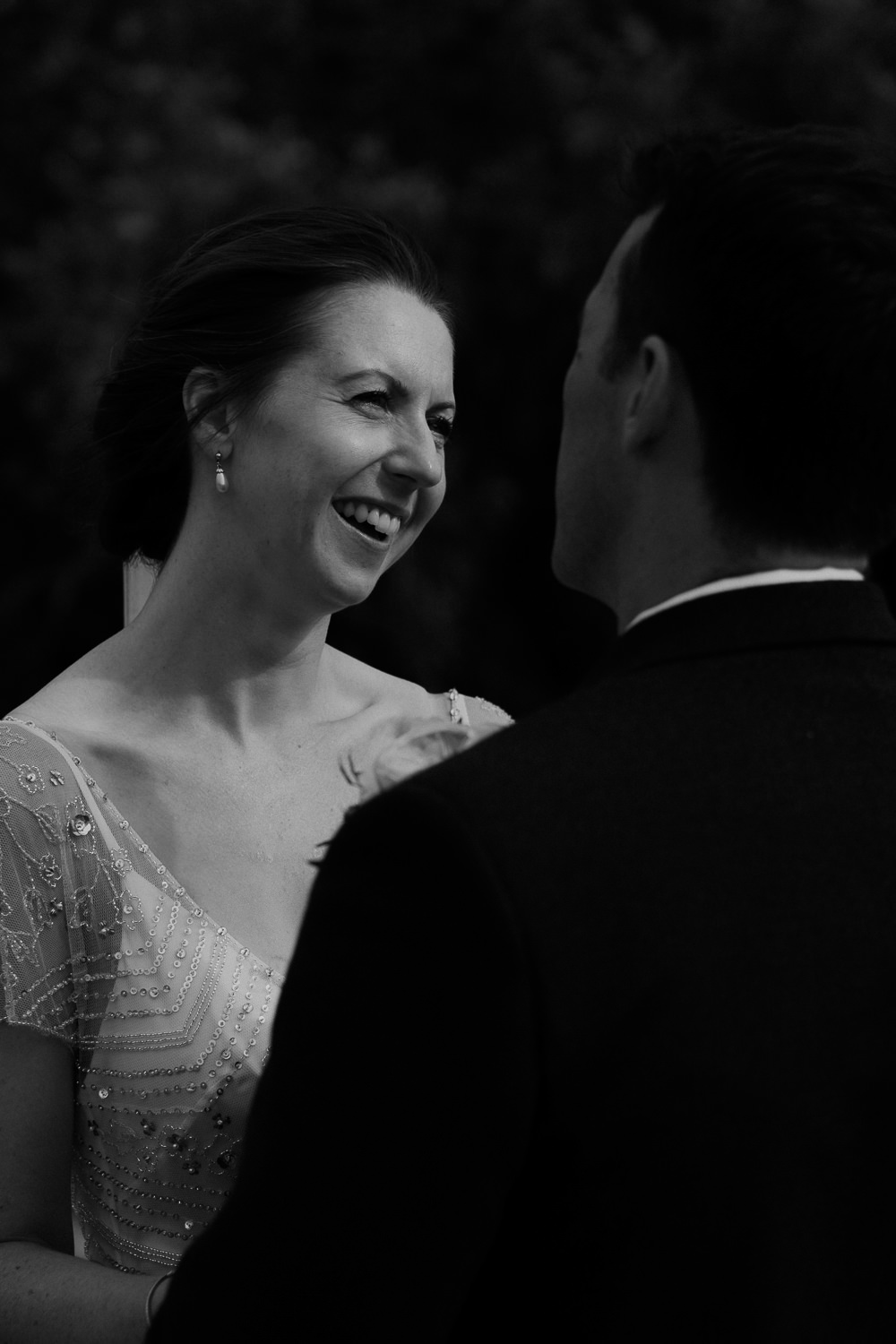 portrait of bride and groom by photographer Mark hadden amsterdam