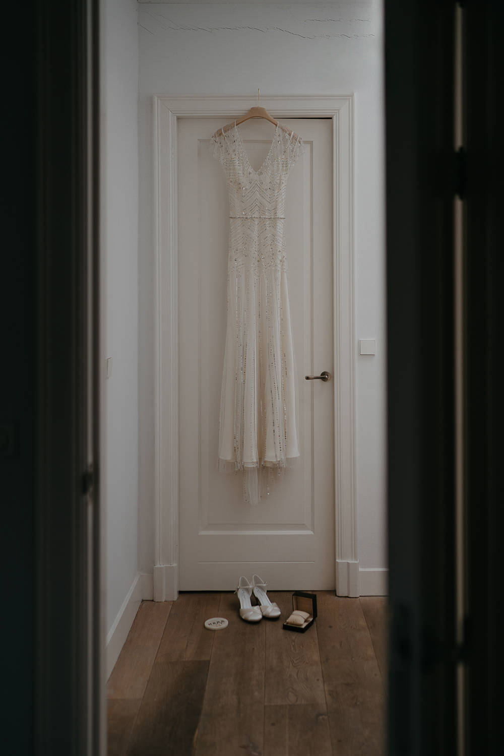 wedding dress and accessoires photography by Mark Hadden