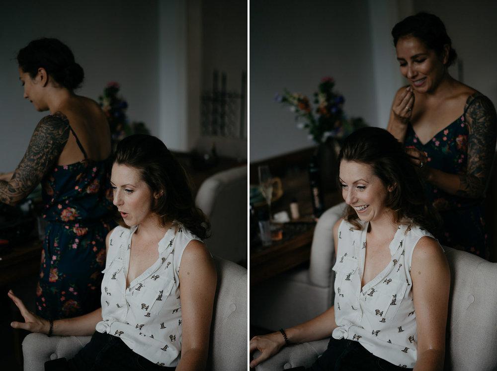 wedding  photography portrait bride getting ready