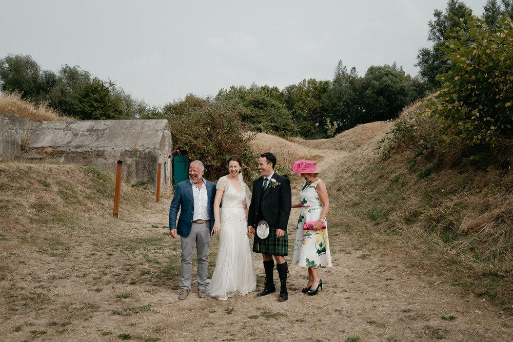Wedding family portrait photoshoot by destination wedding photographer