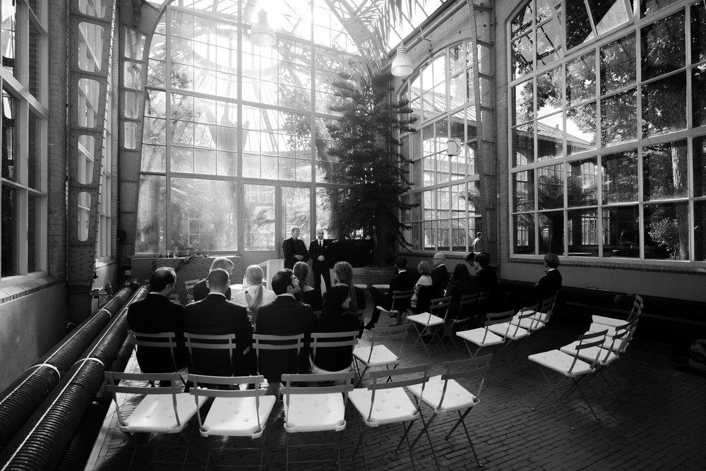 wedding ceremony at botanic garden photo by  mark hadden photographer
