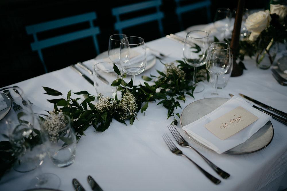 wedding dinner set up photography hortus amsterdam
