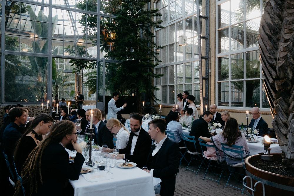wedding in Hortus Botanicus photographer mark hadden Amsterdam