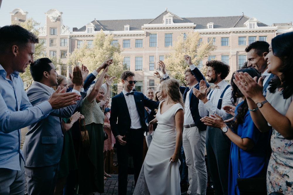 Beautiful Amsterdam wedding photographs