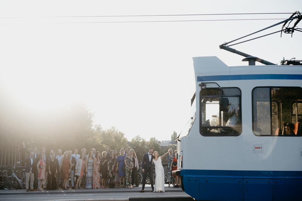Prachtige bruiloft foto's in Amsterdam