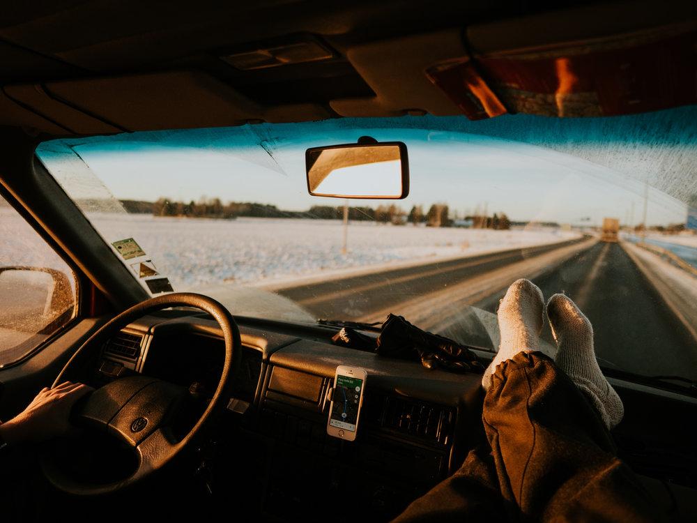 talvi autoilu