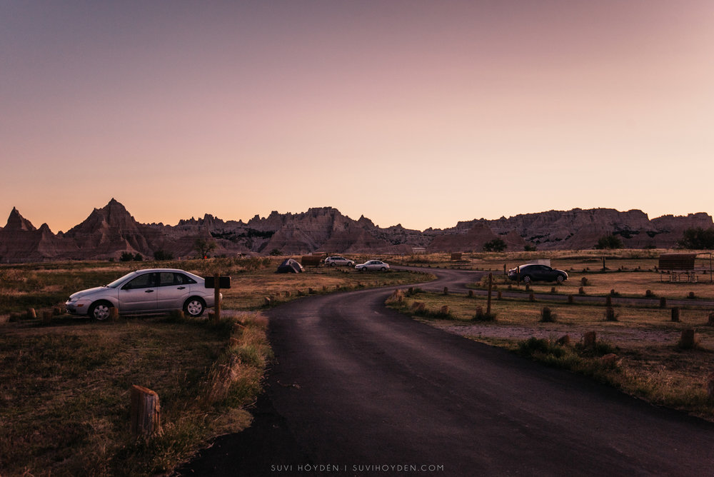 Cedar Pass Campground - Badlands National Park