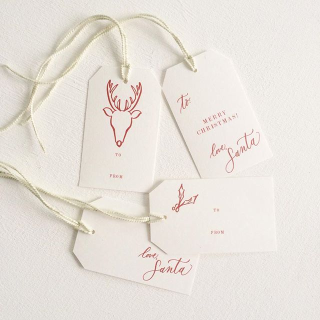 Christmas in September #holidaytags #gifttags #christmas #christmasgifts #calligraphy #handwritten #handdrawn #lovesanta