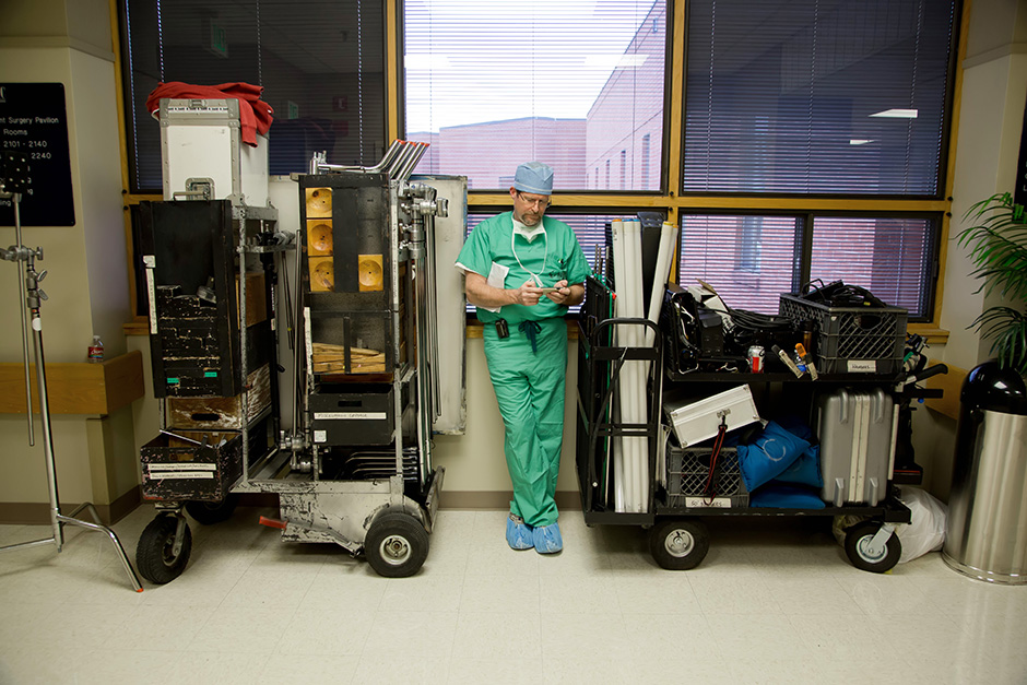 This is probably one my favorite photos for no apparent reason.  Gear carts make a great place for doctors in waiting.