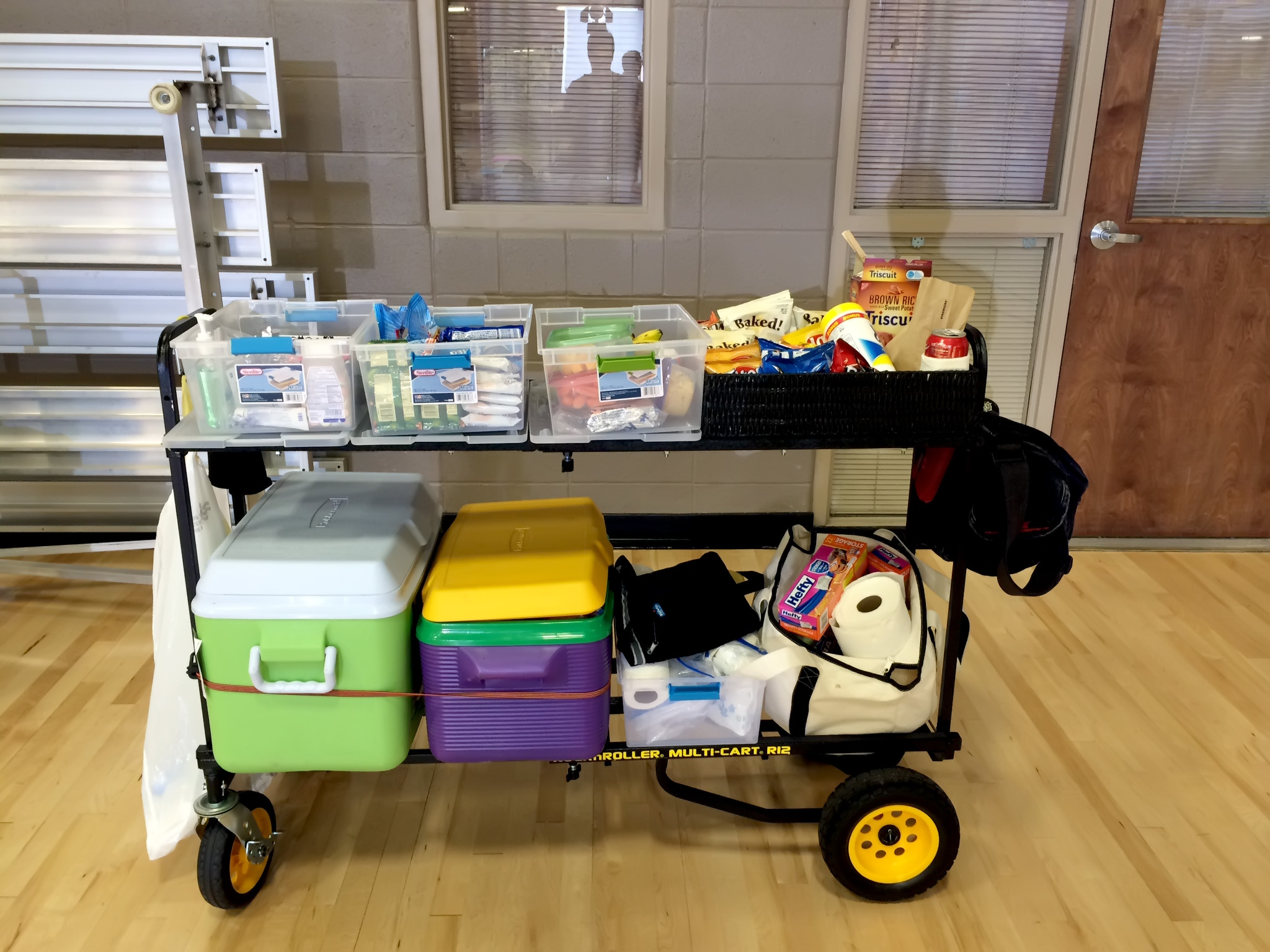 As PA, I had to find a way to keep the crafts small, portable and very mobile.  I used my Multi-Cart and it worked perfectly.