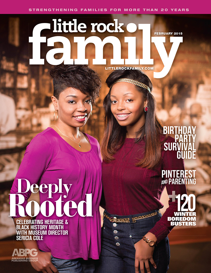 The February Issue of Little Rock Family magazine.