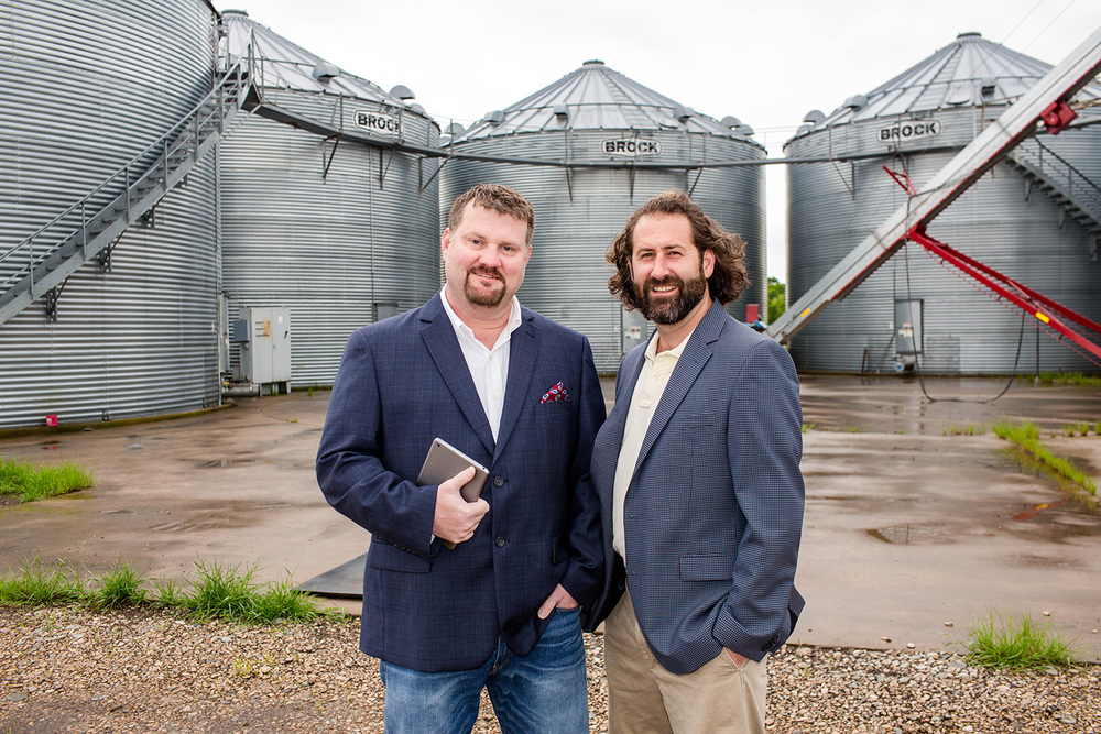 Cotton Rohrscheib, left, COO and Layne Fortenberry, CEO of Grainster