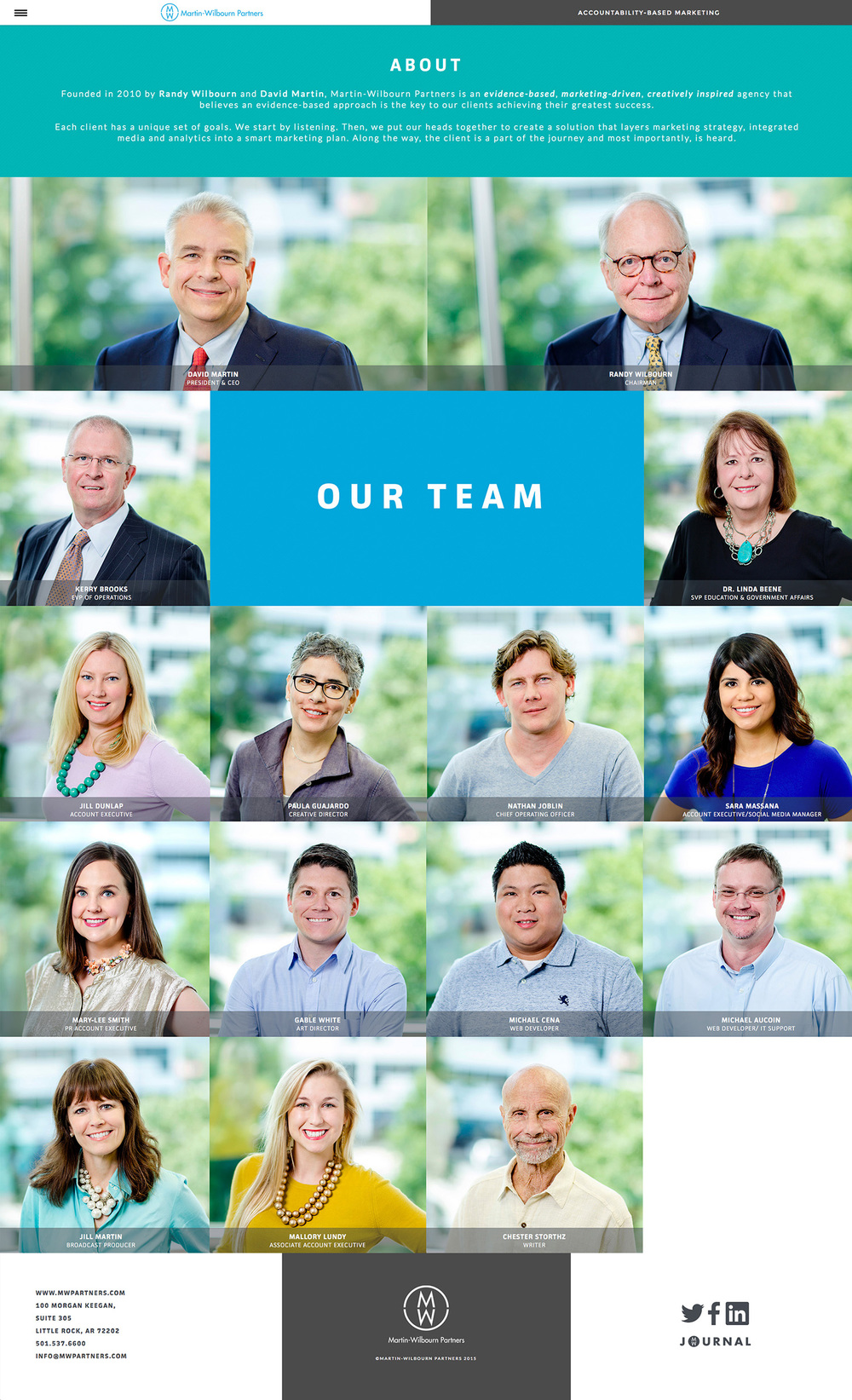 Meet the creative team at Martin-Wilbourn Partners.
