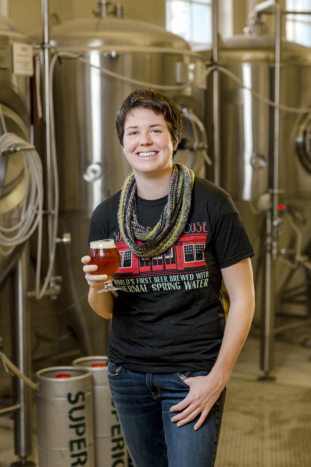 Rose Schweikhart, owner and head brewmaster at Superior Bathhouse.