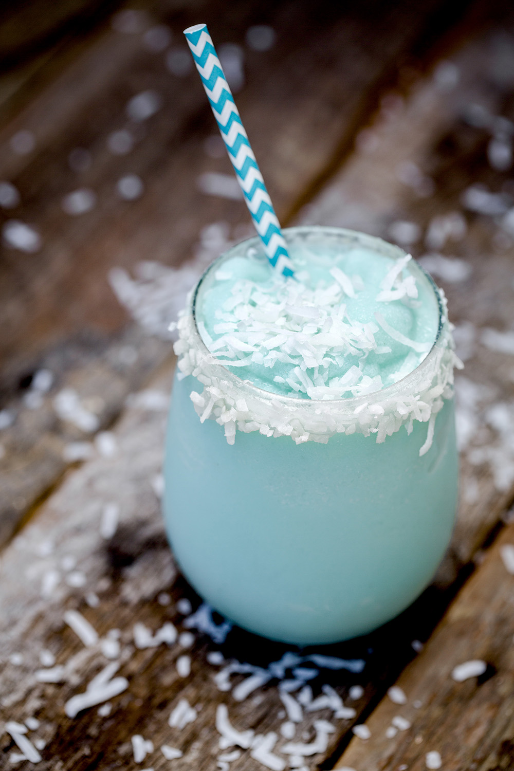For the decadent drink lovers. We added a little ice cream to this Blue Hawaiian.