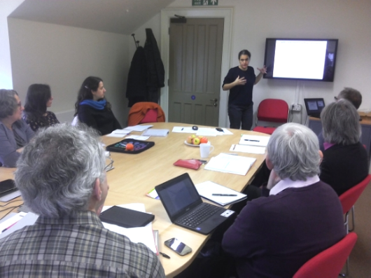 project coordinator CARLOTA QUINTAO (A3S) outlining her propositions for theoretical underpinnings