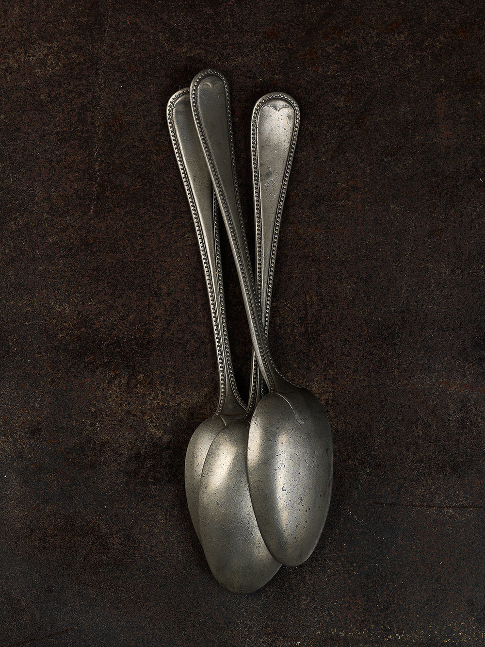 #48 Three Pewter Spoons