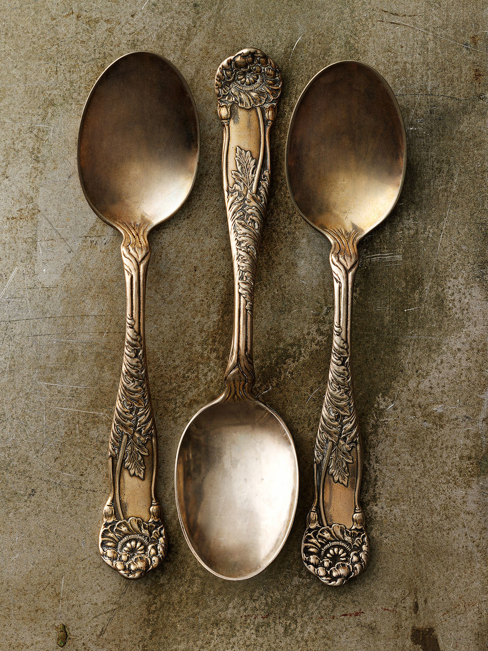 #21 Three Tarnished Spoons