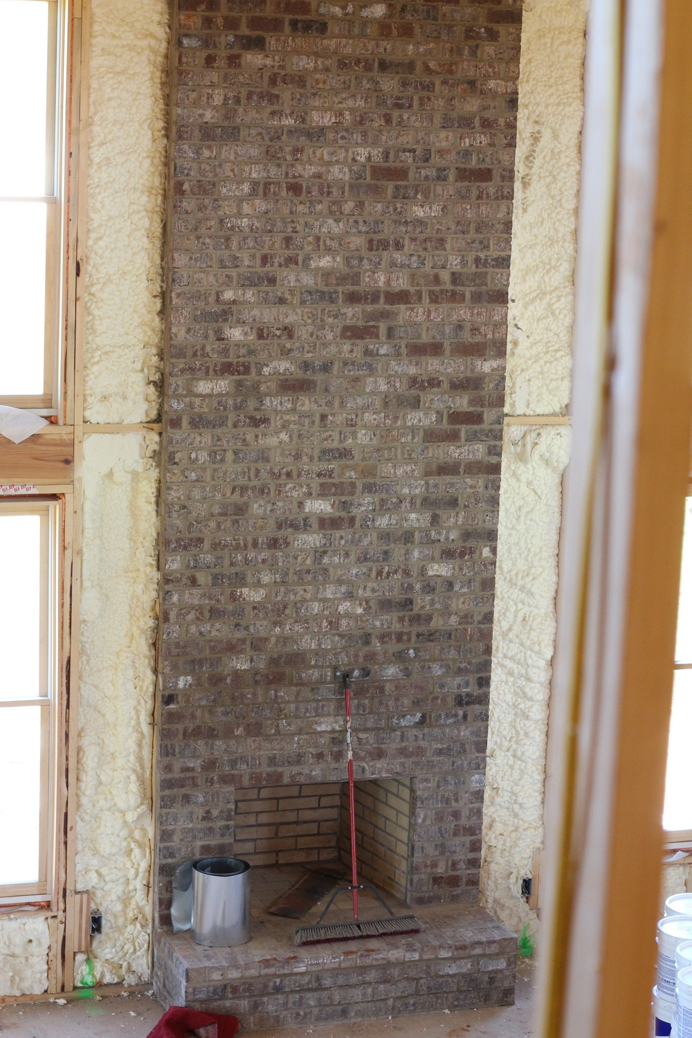 Harbor Bay Pine Hall Brick Fireplace
