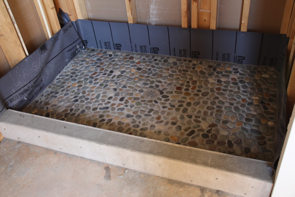 Master Shower Pan Tile Installed