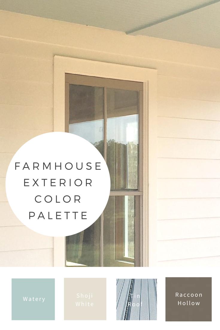 Farmhouse Exterior Color Palette