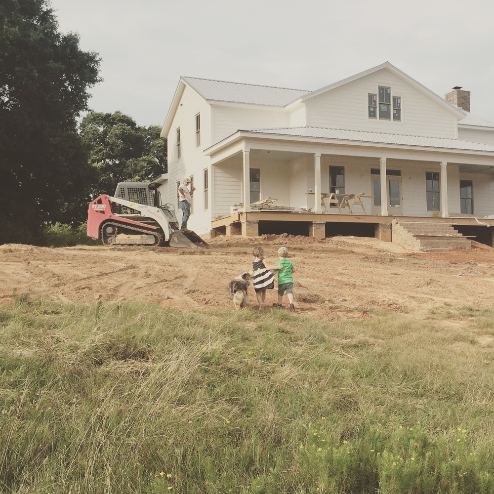 Finish Grading at the Farmhouse