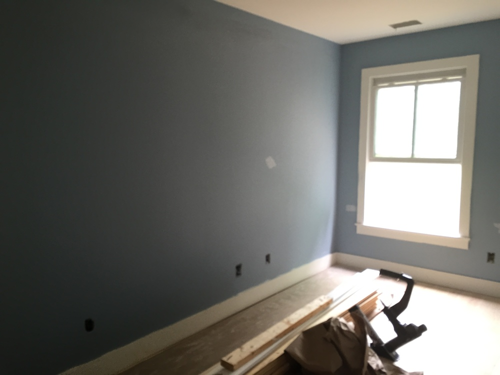 Partially painted foyer
