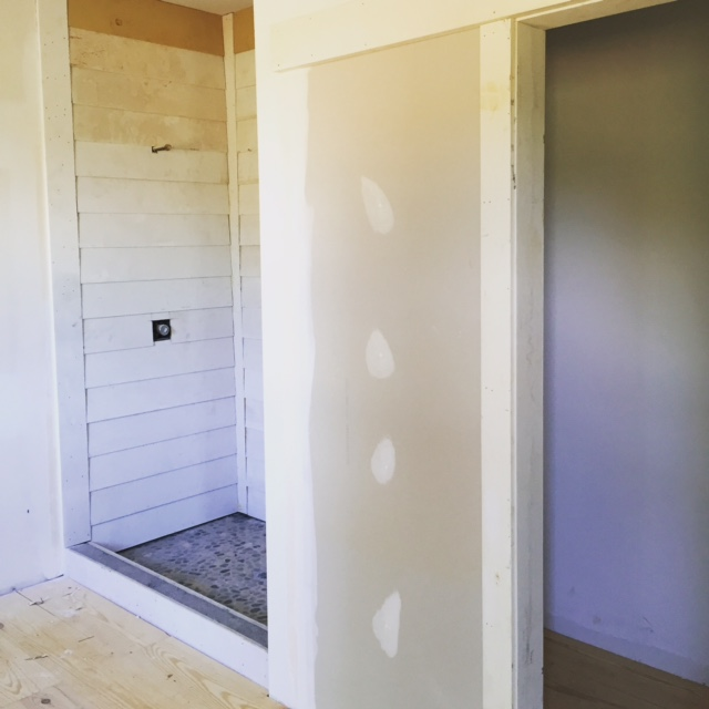 Shiplap Shower and water closet