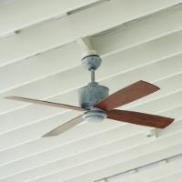 Ballard Design's Carter Indoor/Outdoor Galvanized Ceiling Fan